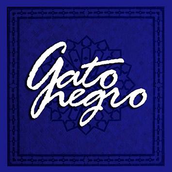 cuadro azul GATO NEGRO